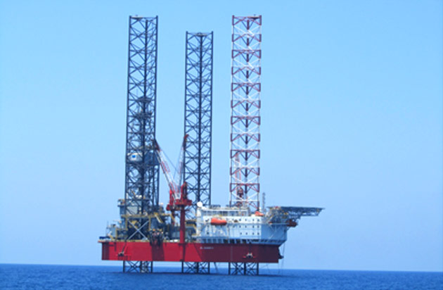 New-build offshore drilling rig in Egypt.